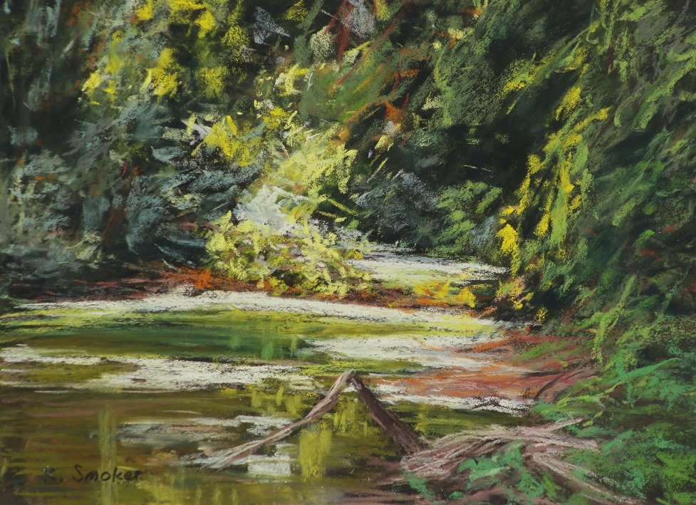 Dordogne River, Vitrac.  9x12 in