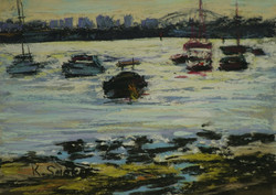 Early Morning Colour Sketch, Drummoyne.  6x8in