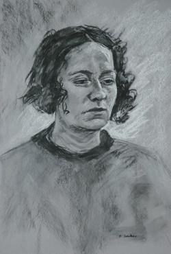 Anna. 55x37cm  (soft charcoal)