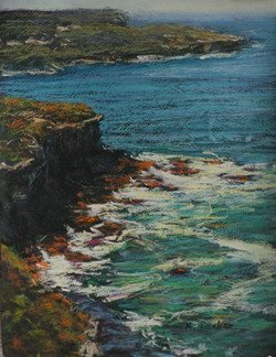 Dobroyd Headland Views I.  12x9in