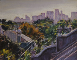 Attic City Views-Early Morning.  8 x 10in.