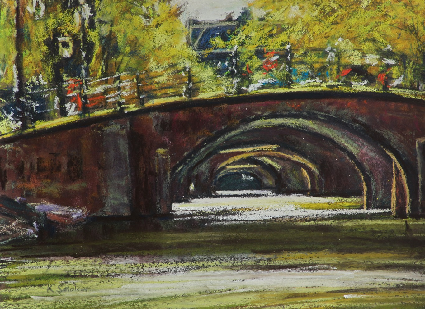 Seven Bridges, Reguliersgracht. 9x12.