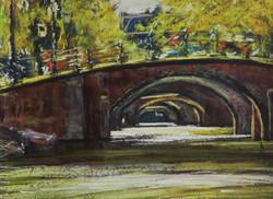 Seven Bridges, Reguliersgracht. 9x12.