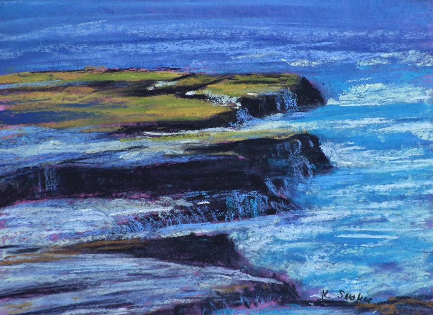 Maroubra Coast I. 9x12in.