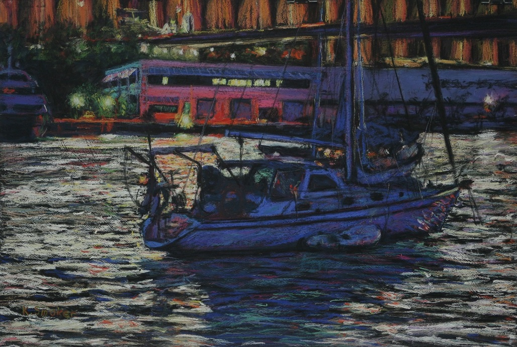 Across Blackwattle Bay. 37x55cm