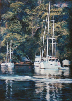 Middle Harbour, NSW.  55x37cm.