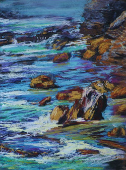 Turimetta Beach II.  12x9in