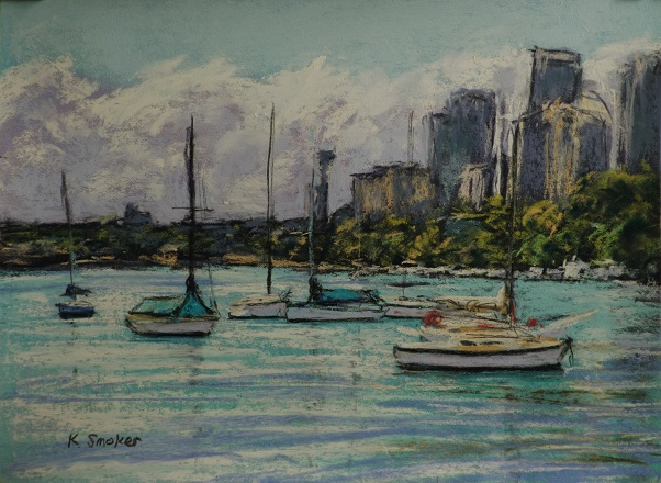 Snails bay XVII.  9x12inches