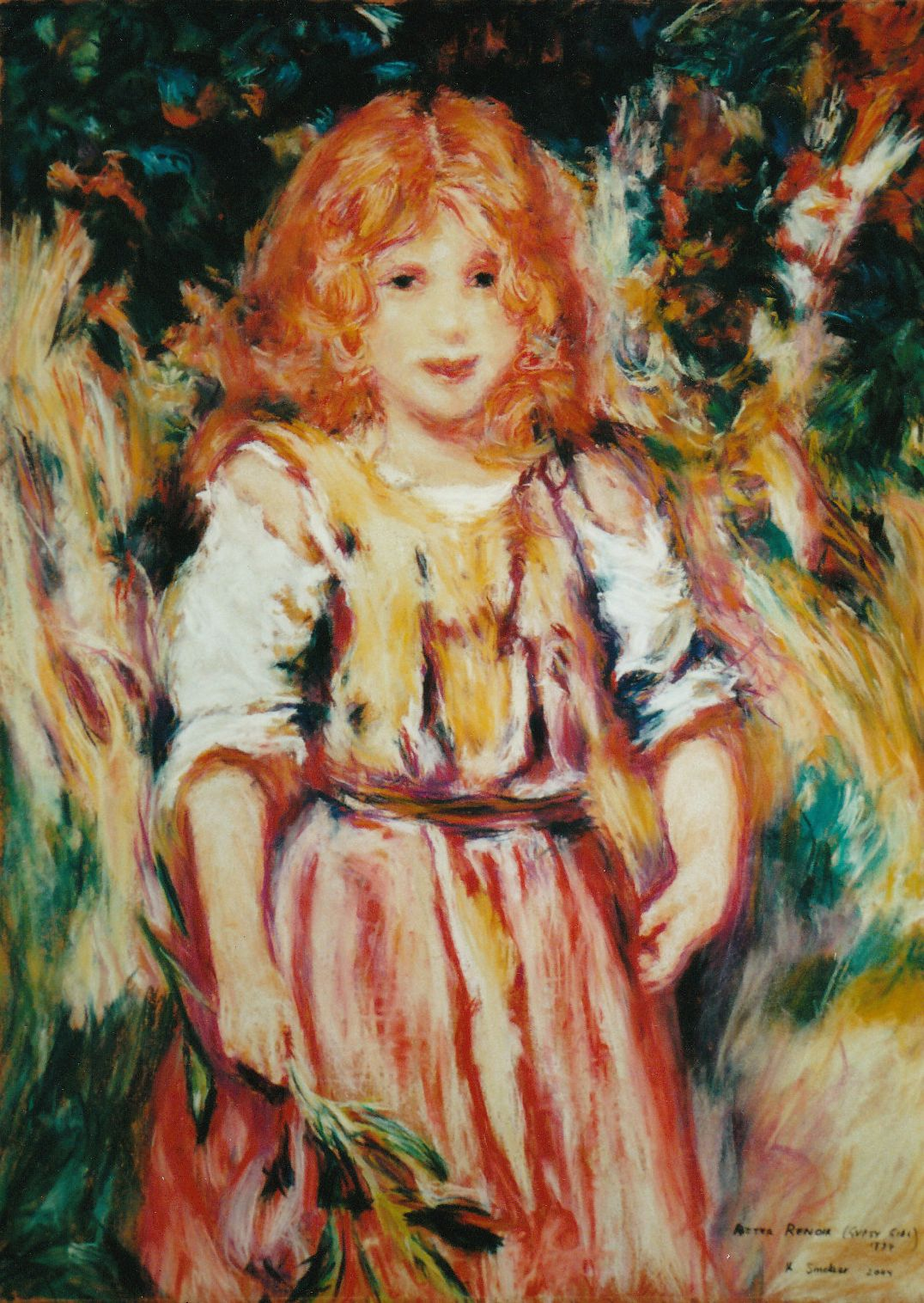 After Renoir -  Gypsy Girl 1879