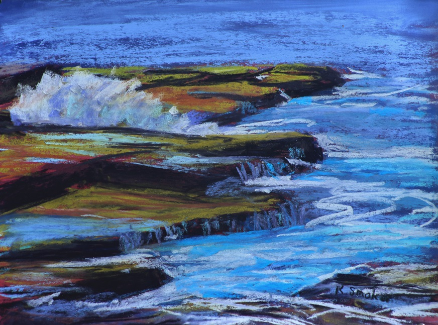 Maroubra Coast III. 9x12in.