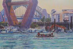 Bridge Trio. 37x55cm