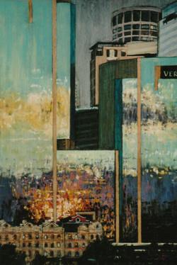Sunset Reflections, Pyrmont. 55x37cm