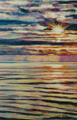 Gold Coast Sunrise III.  55x37cm.