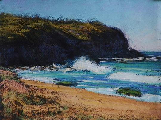Turimetta Beach III.  6x8in