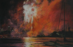 New Year's Eve I.  37x55cm
