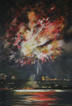 New Year's Eve IV.  55x37cm
