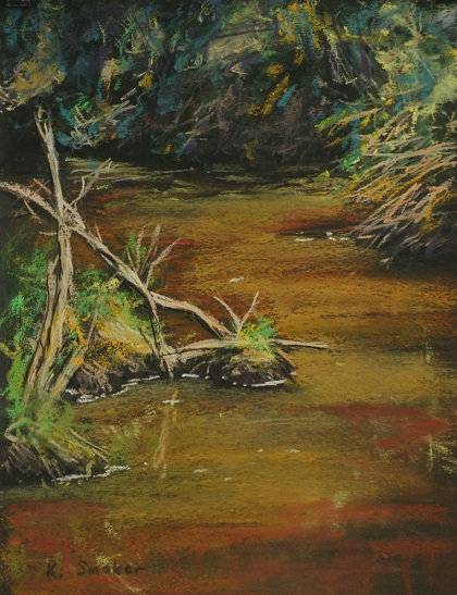 Wollombi Creek.  12x9in