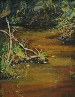 Wollombi Creek.  12x9in