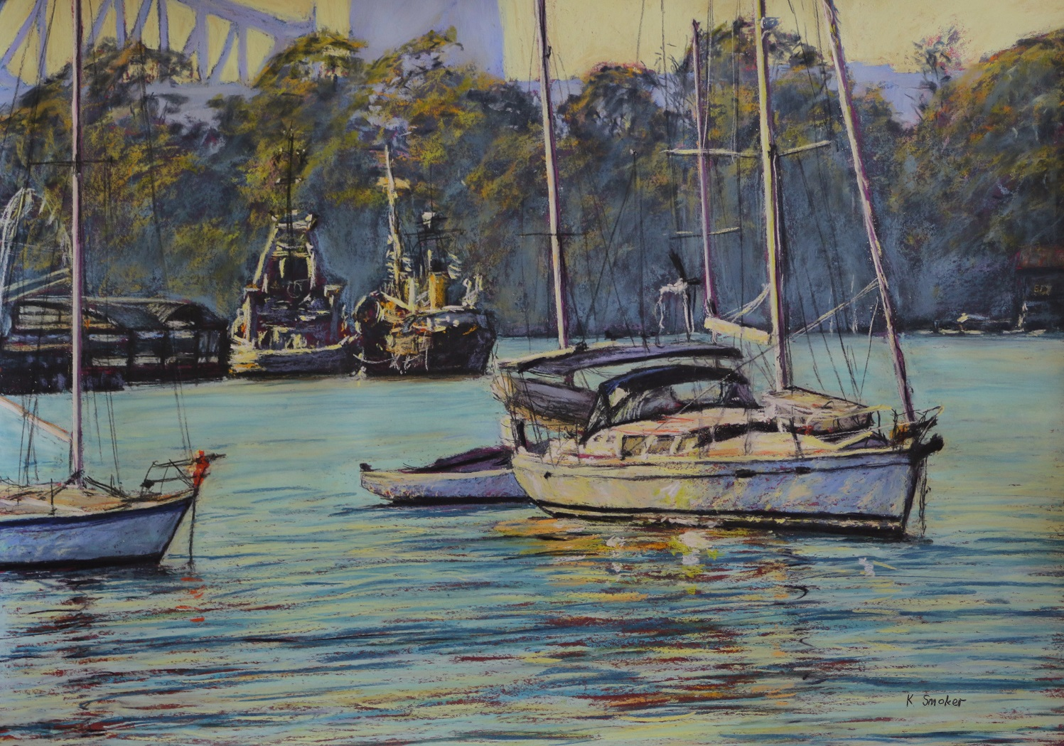 Snails Bay Morning II. 50x70cm.