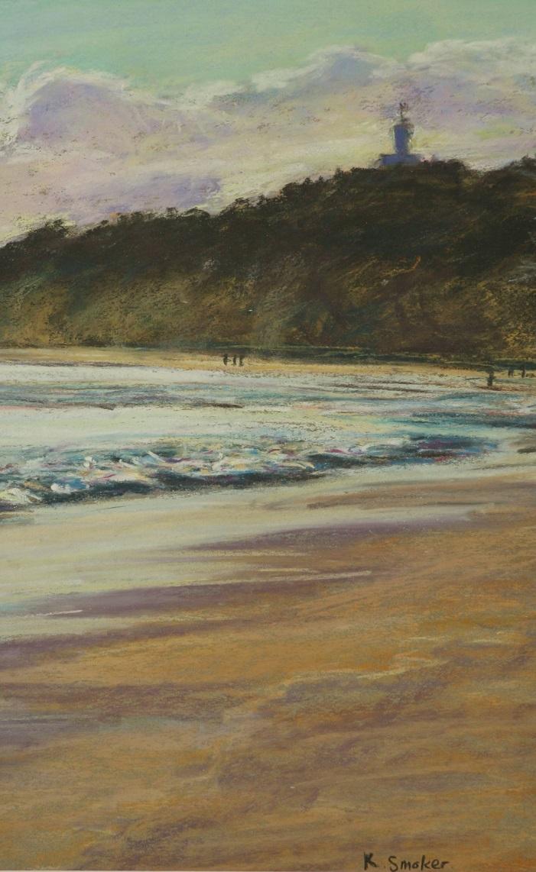 Early Morning, Byron Beach. 35x22cm.