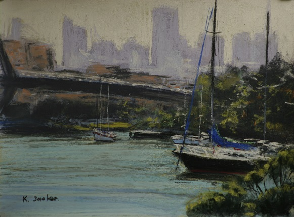 Glebe water Views.  9x12in