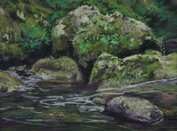 Rocks and Water, 27x37cm.