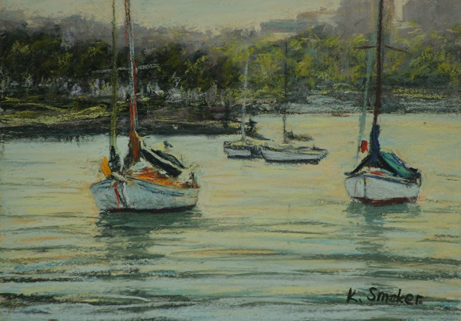 Snails Bay VI.  9x12in