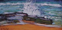 Turimetta Beach IV.  6x12in