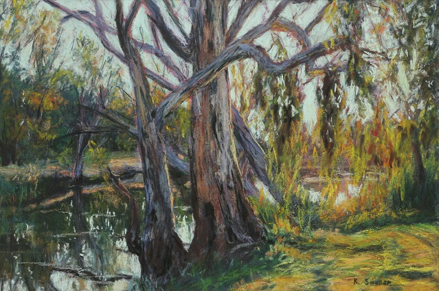 Murray Afternoon at Yarrawonga. 37 x 55cm