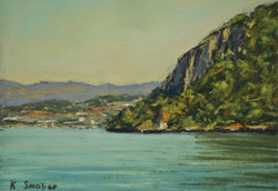 Lake Annecy from Veyrier.  6x8in