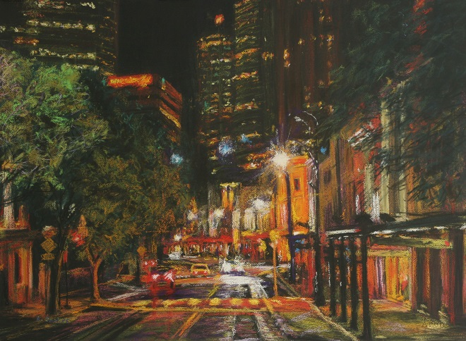 GeorgeStreet,TheRocks.  55 x 75cm