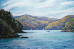 Afternoon, Yeomans Bay. 37x55cm.