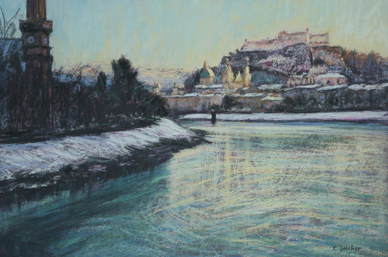 Salzach River Views. 37x55cm.