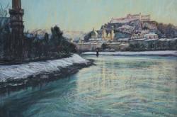 Salzach River Views. 37x55cm.