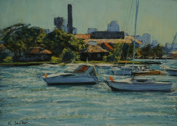 Clear Morning, Drummoyne.  9x12in