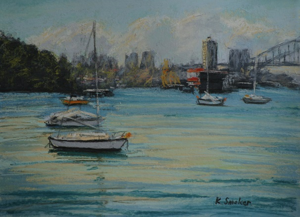 Snails Bay III.  9x12in