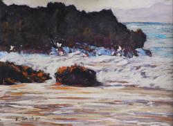 Byron Beach Rocks. 9x12in