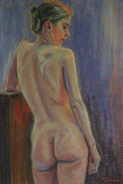 Untitled Nude.  55x37cm