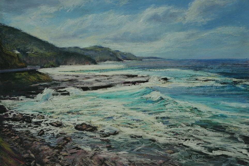 Coalcliffe Coast. 37x55cm.