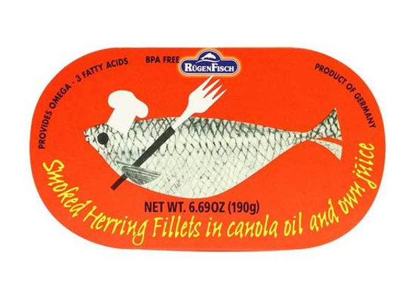 Herring Fillets in canola oil