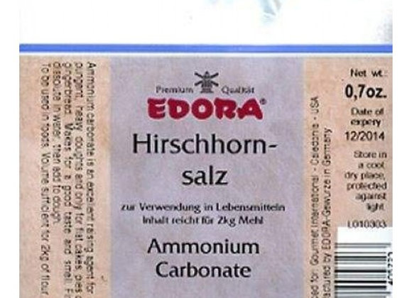 Edora Hirschhornsalz 20g (Ammonium Carbonate)