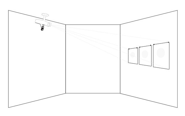 Beatriz Castela. In-motion. Observation points Project, 2014-15. Explanatory diagram.