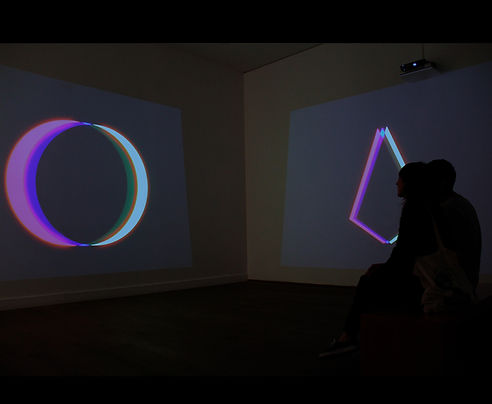 Beatriz Castela. RP (Relative Perception) art, installation, color, geometry, projection, video