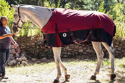 Capa de caballo invierno Burdeo Azul Premium