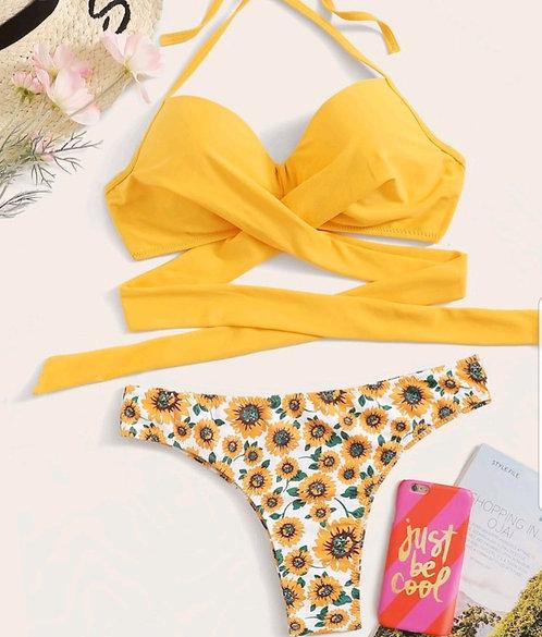Bikini floral Yellow