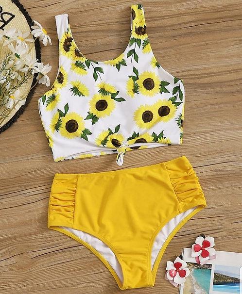 Bikini tiro alto Pop Yellow
