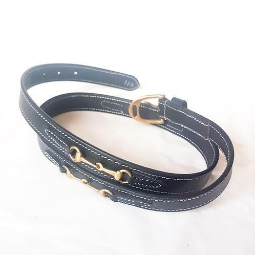 Cinturon Cuero Bocados Bronce