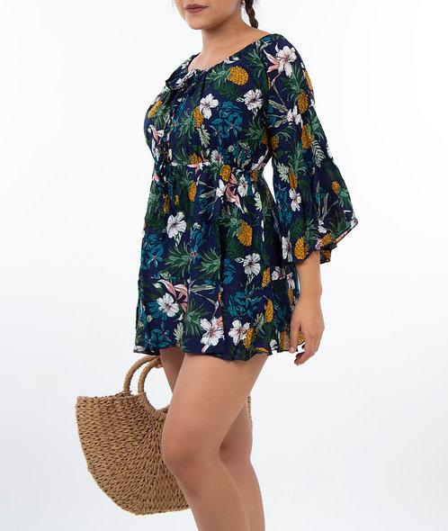 Vestido de playa Piña caribe