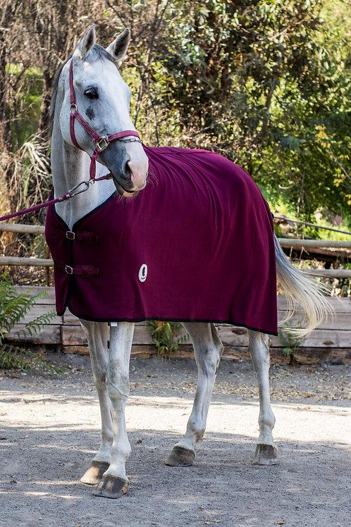 Capa  de caballo Polar Cordón Burdeo