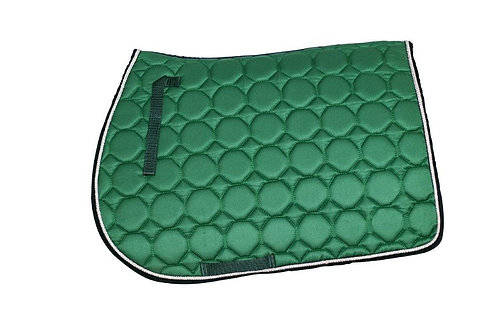 Mandil Verde con sesgo azul y cordón plata Dry Fit